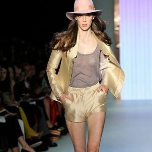 Forever 21 Shiny Golden Shorts